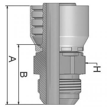 """Parker métrique tuyau insert 3/4"""" x M26 x 1.5 femelle 135 ° 1CE48-18-12 #1B455"""