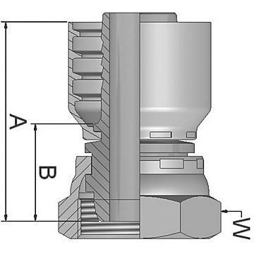Parker femelle 45 degrés pivotant 3/8 bspp x 3/8 tuyau en acier 1B143-6-6 #8E206