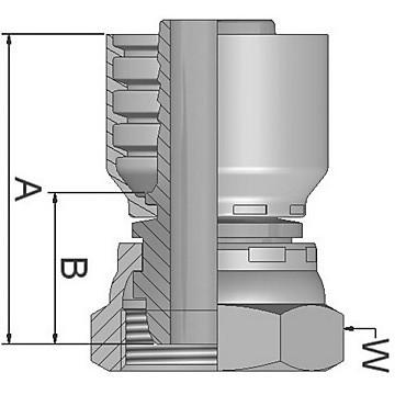 Parker push-lok série 82 rigide femelle raccord 30282-4-4 #14D406