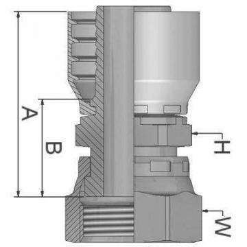 """Parker métrique tuyau insert 5/16"""" x M16 x 1.5 femelle 90 ° 1CF48-10-5 #1B462"""