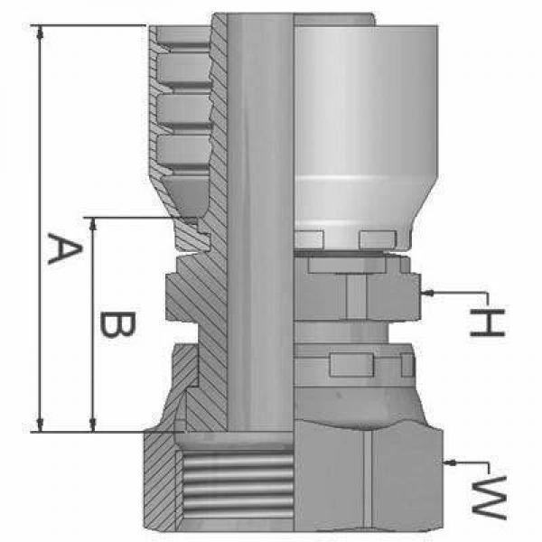Parker métrique tuyau insert 3/8' femelle droit pivotant 1C948-12-6 #26E305 #2 image